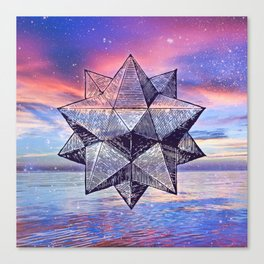Sacred Geometry Universe 8 Canvas Print