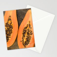 papaya fruit Stationery Cards