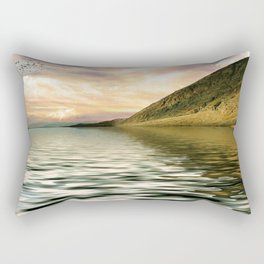 mountain lake 4 Rectangular Pillow