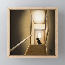 On the stairs Framed Mini Art Print