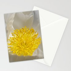 white peony Stationery Cards