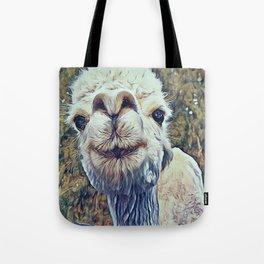 Baby White Alpaca Tote Bag