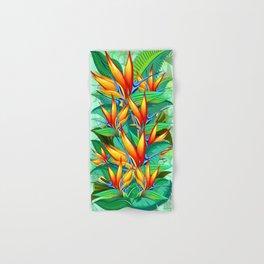 Bird of Paradise Flower Exotic Nature Hand & Bath Towel