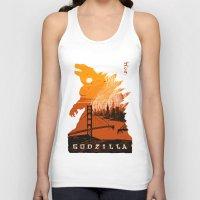 godzilla Tank Tops featuring Godzilla  by tim weakland