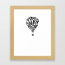 Flying away from here Framed Art Print