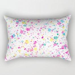 Spring Happy - Bright Color Paint Splatter Rectangular Pillow