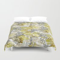 industrial Duvet Covers featuring Industrial Revolution by Grandiflora