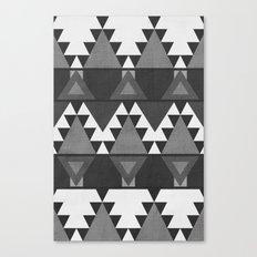 Aztec Grey Canvas Print