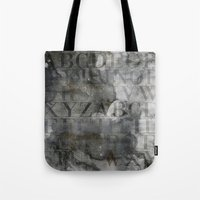 alphabet Tote Bags featuring Alphabet by cafelab