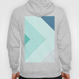Teal Vibes - Geometric Triangle Stripes Hoody