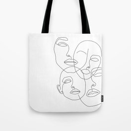 Messy Faces Tote Bag