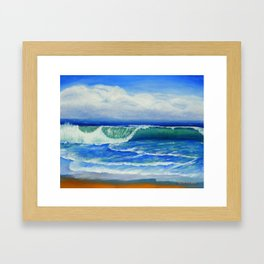 A Wave To Catch Framed Art Print