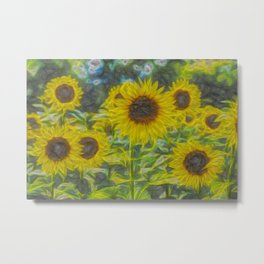 The Art Of The Sunflower Metal Print