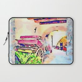 Barrow at the entrance to the Sgroi hotel Laptop Sleeve