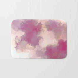 Mauve Dusk Abstract Cloud Design Bath Mat