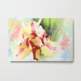 Water colour parrot tulip Metal Print