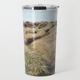 Oregon Dune Grass Adventure - Nature Photography Travel Mug