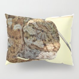 Chameleon Hanging On A Wire Fence Pillow Sham