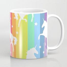 Rainbow Unicorns Coffee Mug