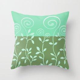 VINEIRI | moss aqua Throw Pillow