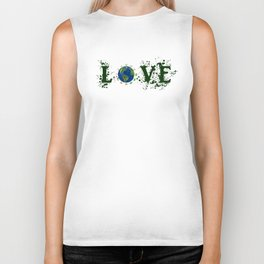 Earth Day Love Mother Earth Biker Tank