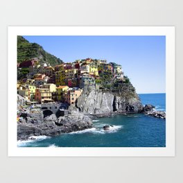 Summer in Cinque Terre Art Print