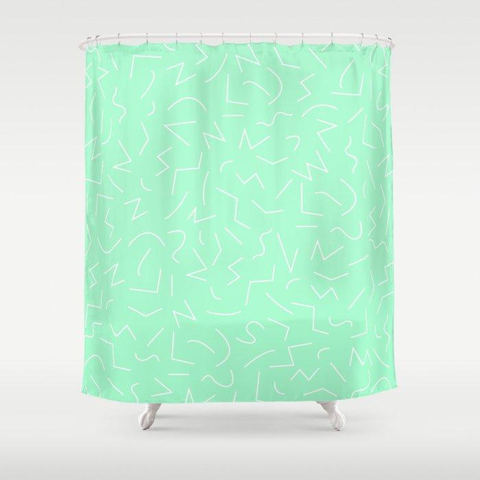 IZZY Seafoam Green Shower Curtain