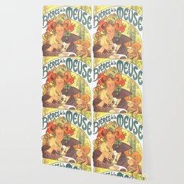 "Alphonse Mucha ""Bières de la Meuse"" Wallpaper"