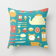 Breakfast Pattern Throw Pillow