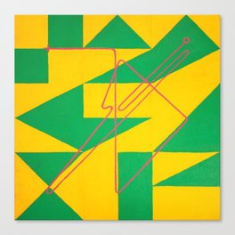 Magic Square #3 (Lo Shu - With Sigil) Canvas Print