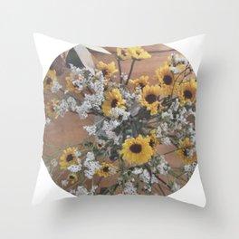 Flowers (yellow/white)  Throw Pillow