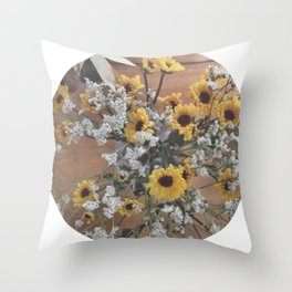 Flowers (yellow/white)  Throw Pillow