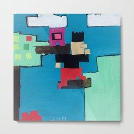 Pixel Man by SmallPerson Metal Print