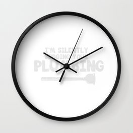 Plumber Gift Plumbing Water Installer Shirt Wall Clock
