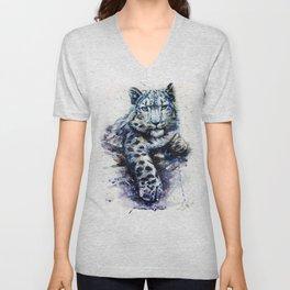 Snow leopard Unisex V-Neck