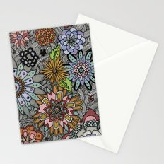 Chalkboard Flowers Stationery Cards