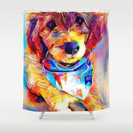 Goldendoodle Shower Curtain