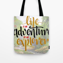Quote Poster - 30 - Explorer Tote Bag