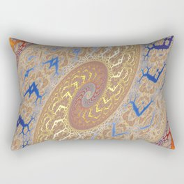 Fractal Double Spiral Rectangular Pillow