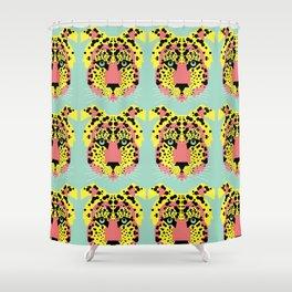 Modular Cheetah Shower Curtain
