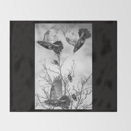 Krummar (raven) Throw Blanket