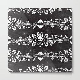 Fleur De Crâne Metal Print