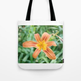 orange garden flower Tote Bag