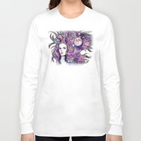 the moon Long Sleeve T-shirts featuring moon by Beth Jorgensen