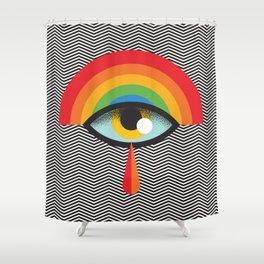 crying eye Shower Curtain