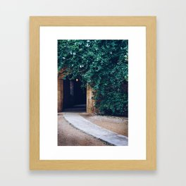 Into the Ivy, Down the Hall Framed Art Print