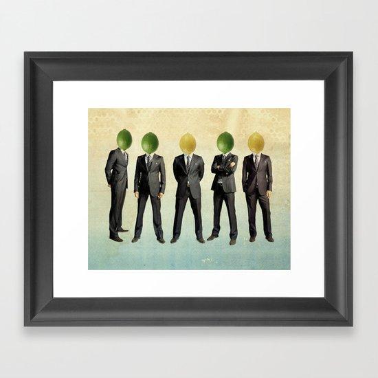 lemon and lime heads Framed Art Print