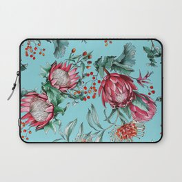 King protea flowers watercolor illustration Laptop Sleeve
