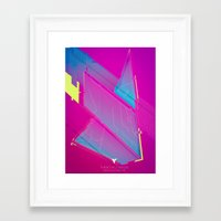 fight Framed Art Prints featuring FIGHT by Edgar Gomez UniverZ7