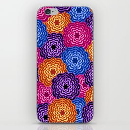 Dahlia Rainbow Multicolored Floral Abstract Pattern iPhone Skin